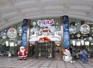 圣诞节门头美陈装饰效图片