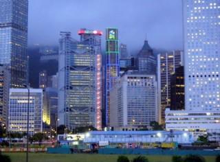 香港中銀大廈夜景圖片