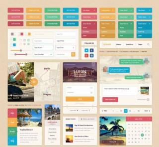 设计素材UI模板图片