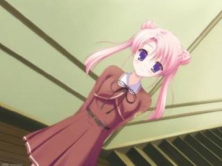 可愛粉色頭發的女孩