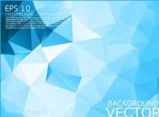 藍色多邊形底紋背景圖片