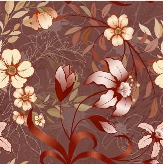 矢量背景花紋花邊圖案