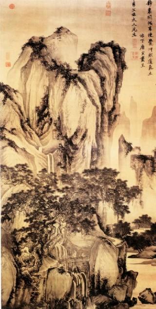唐寅山水画图片