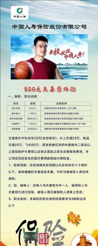 中國人壽易拉寶海報