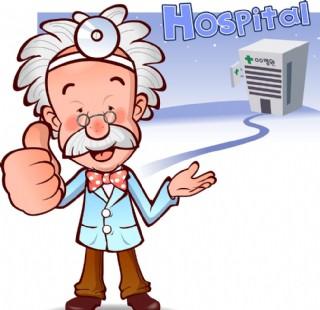 医生医院卡通动漫插画图片