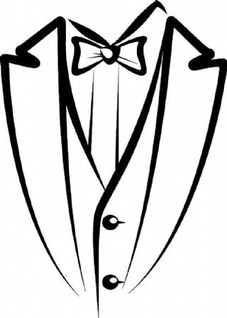 矢量西服襯衫領結