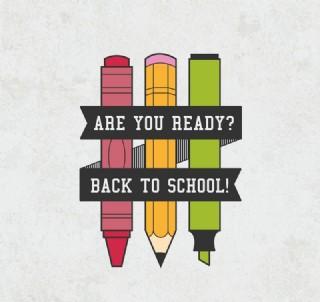 创意铅笔返校海报矢量素材