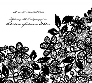 黑色花纹花朵背景